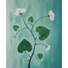 """Titled """" Floral vine """" by NORA 2015 -  Unica imprint/painting."""