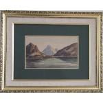 Emanuel Aage Petersen.  1894-1948 . Watercolour (Greenland, Godthaabsfjorden)
