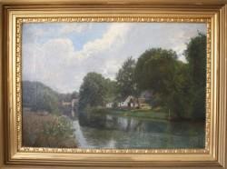 Viggo langer.  1860 - 1942.  Painting  (Frederiksdal)