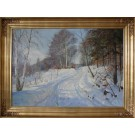 Harald Pryn .  1891 - 1968 .  Painting ( Winter scenery)