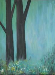 Birgitte Nora Frandsen.   1948 - .        Painting  (Spring dreams)