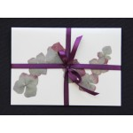 Flower cards  with dried hydrangea flowers by nora -  dark ribbon