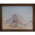 Otto Rosing . 1896 - 1965. Painting (Greenland, Sermiligâk)