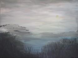 Birgitte Nora Frandsen.  1948 -    .  Painting  (Daybreak)
