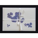 Flower cards  with dried hydrangea flowers by nora -  light ribbon - envelope