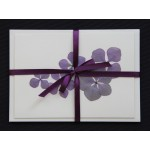 Flower cards  with dried hydrangea flowers by nora -  dark ribbon - envelope