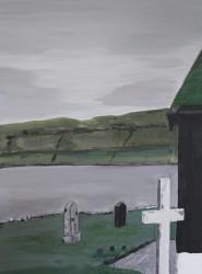 Birgitte Nora Frandsen.  1948 -    .  Painting ( Faroe Islands, Kaldbak church )