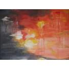 Birgitte Nora Frandsen.   1948 - .        Painting ( Waterlily)