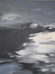 Birgitte Nora Frandsen.  1948 -    .  Painting   (Ligth in the darkness)