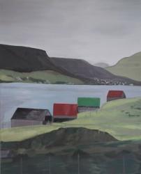 Birgitte Nora Frandsen.  1948 -  .   Painting ( Faroe Islands, Glyvrar )