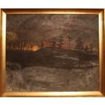 Erik Enevold, 1926 -  .  Painting (Sun set)