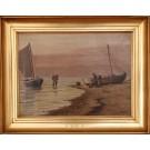 Johan Neumann.  1860 - 1940 .  Painting  ( Fisherman)