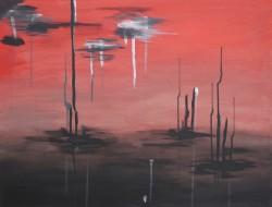 Birgitte Nora Frandsen.  1948 -   . Painting ( Pain)